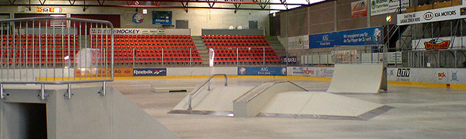 Rampes de skate en béton